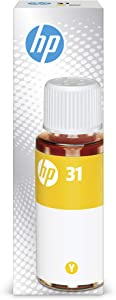 HP 31 Yellow Ink Bottle, 70ml (1VU28AN)