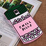 Galaxy Note 4 Case, Anya Cute 3D Lovely Cartoon Chill Pills Love Magic Potion Heart Pills Lovel Capsule Soft Silicone Rubber Back Shell Case Cover for Samsung Galaxy Note 4 N910H Chill Pill
