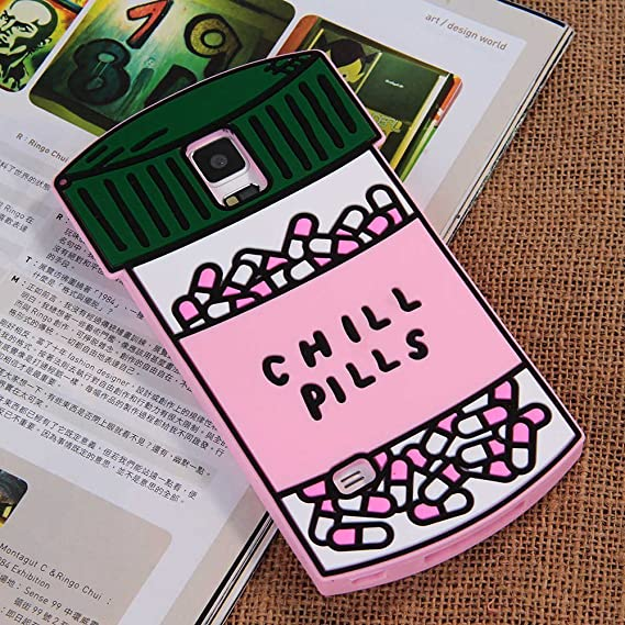 online retailer eb4bf 54e27 Galaxy Note 4 Case, Anya Cute 3D Lovely Cartoon Chill Pills Love Magic  Potion Heart Pills Lovel Capsule Soft Silicone Rubber Back Shell Case Cover  for ...