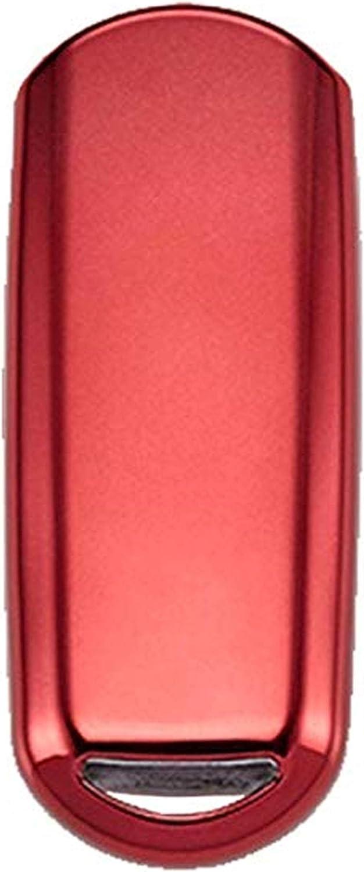 BINOWEN Premium Soft TPU Protection Key Shell Case Cover Keyless Entry with Mazda Keychain Key Chain Ring for Mazda 2 3 5 6 8 CX-3 CX-4 CX-5 CX-7 CX-9 Atenza Axela MX5
