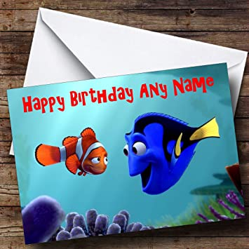 Personalised Finding Nemo Birthday Card Amazon Office Products