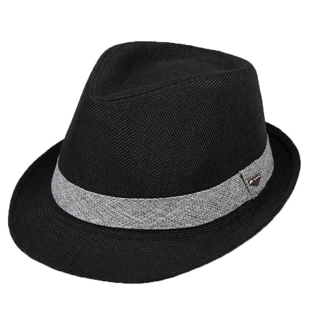 Cappello Trilby Cappelli Uomini Ragazzi Primavera Estate Sole Cappelli di Paglia Tre Dimensioni DH1135P