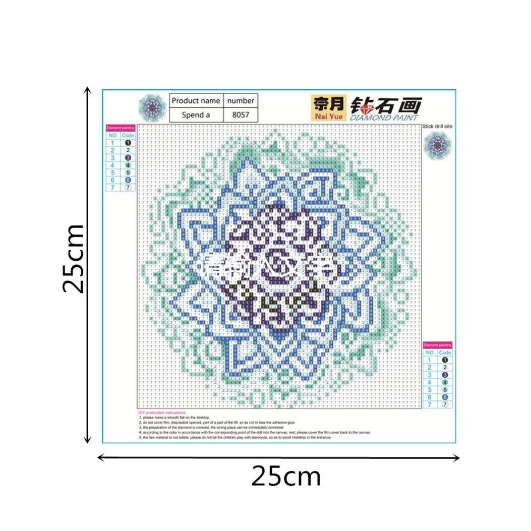 F Staron Full Drill Diamond Painting Mandala Cross Stitch Kit 5D Diamond Embroidery Painting Indian DIY Home Decor DIY 5D Diamond Painting