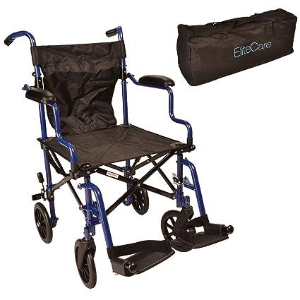 Plegable compacta silla de ruedas viaje más ligero en una bolsa ECTR05