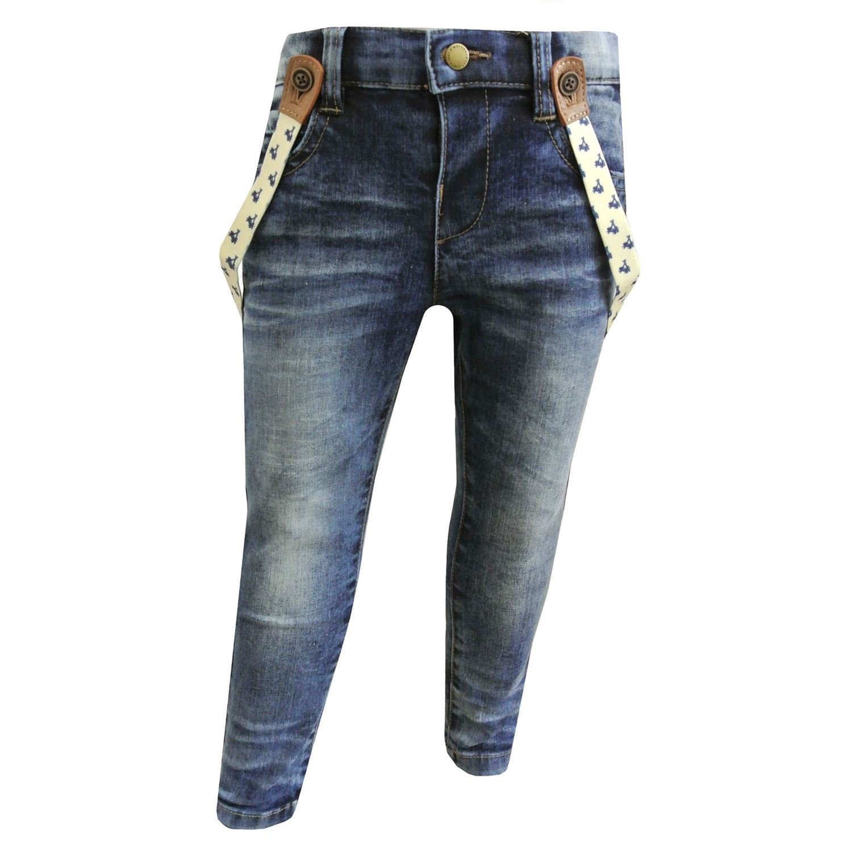 Mayoral - Baby Jungen Jeans Jeanshose mit Hosenträgern. blau - 1537