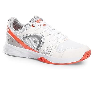 HEAD Nitro Team Wo Whnc, Chaussures de Tennis Femme, Blanc (Blanc/Orange/Argent), 40 EU