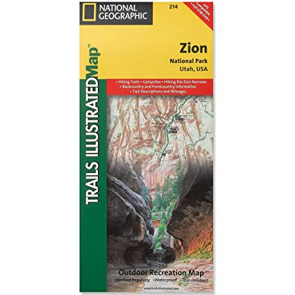 Amazon.com : Zion National Park Utah Map : Wall Maps ...