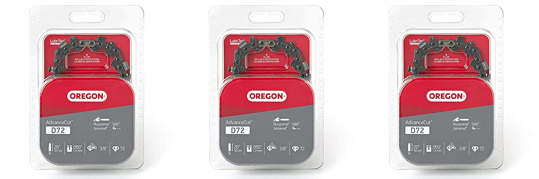 2 Pack Oregon D72 AdvanceCut 20-Inch Chainsaw Chain Makita Fits Husqvarna Stihl and Others Remington