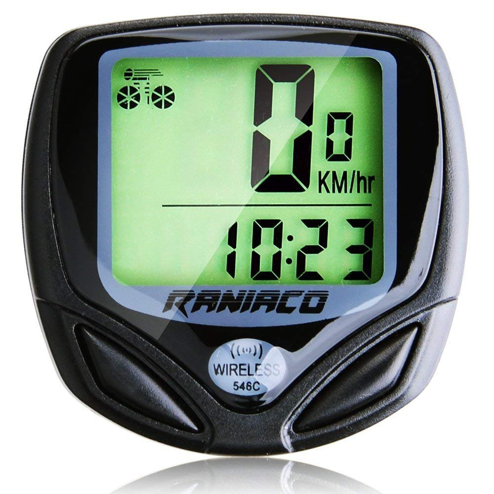 Rani. Bike Computer, Original Wireless Bicycle Speedometer, Bike Odometer Cycling Multi Function- Premium Product Package, Gifts for Bikers/Men/Women/Teens