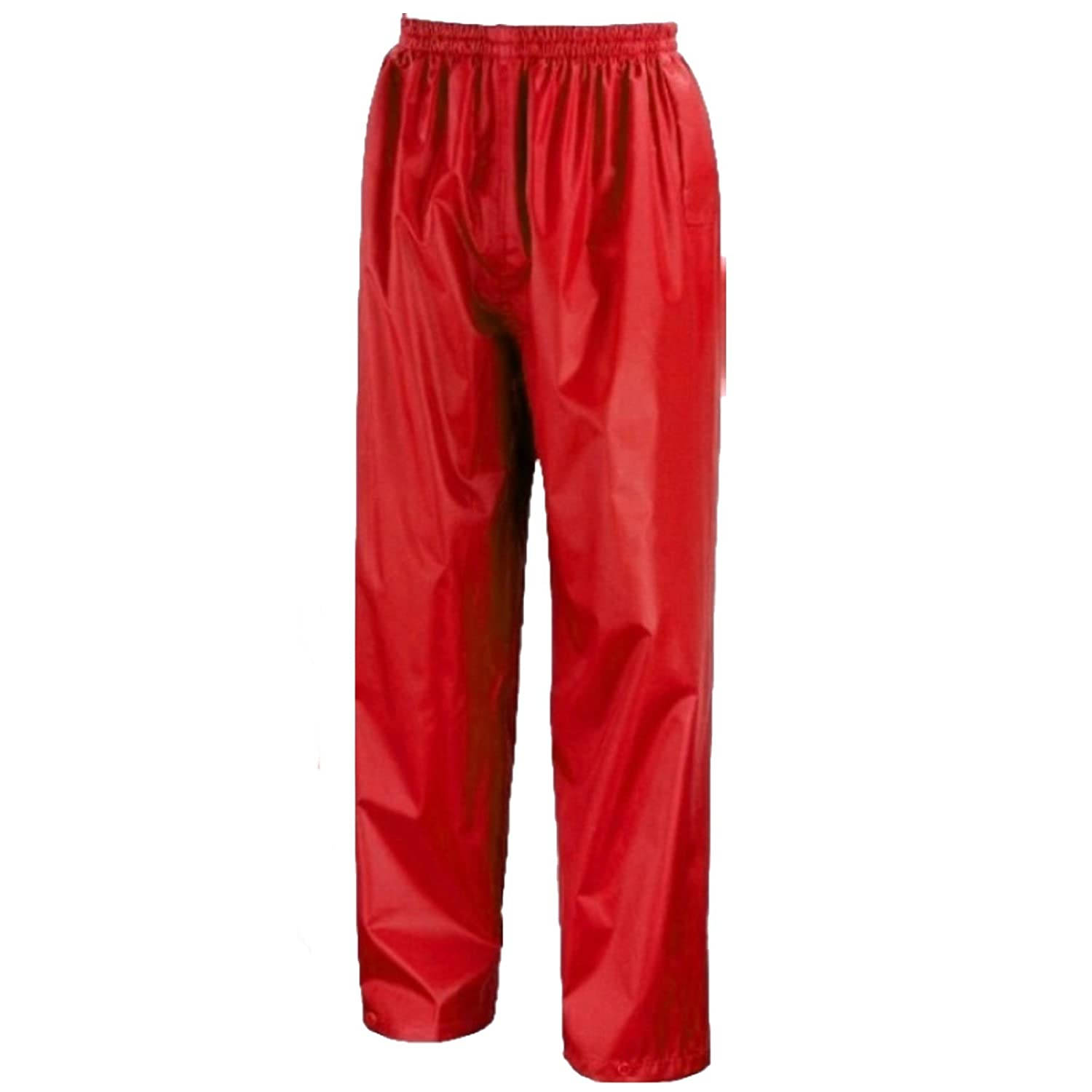 Kids Waterproof Over Trousers In Black, Pink, Red or Royal Blue Childs Childrens Boys Girls