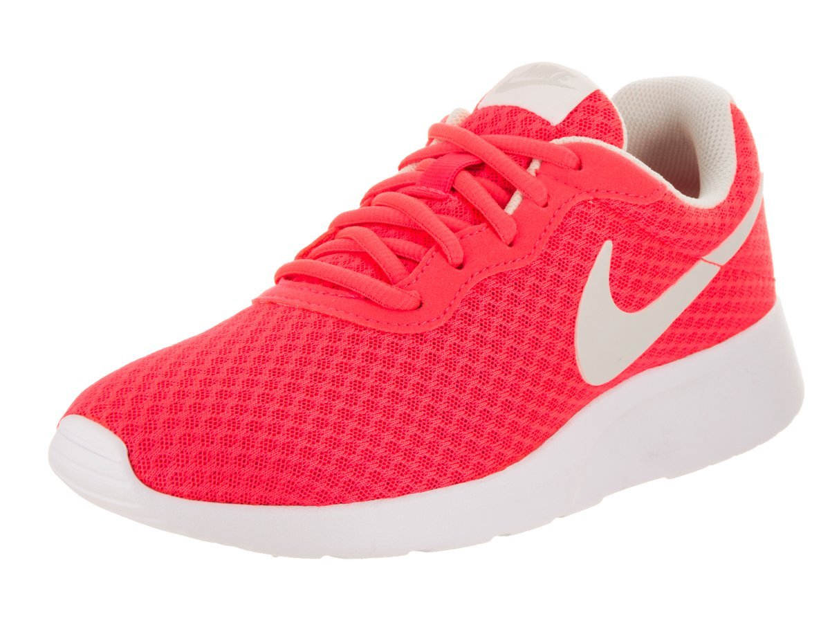 NIKE Women's Tanjun Solar Red/Lt Orewood BRN White Running Shoe 8 Women US