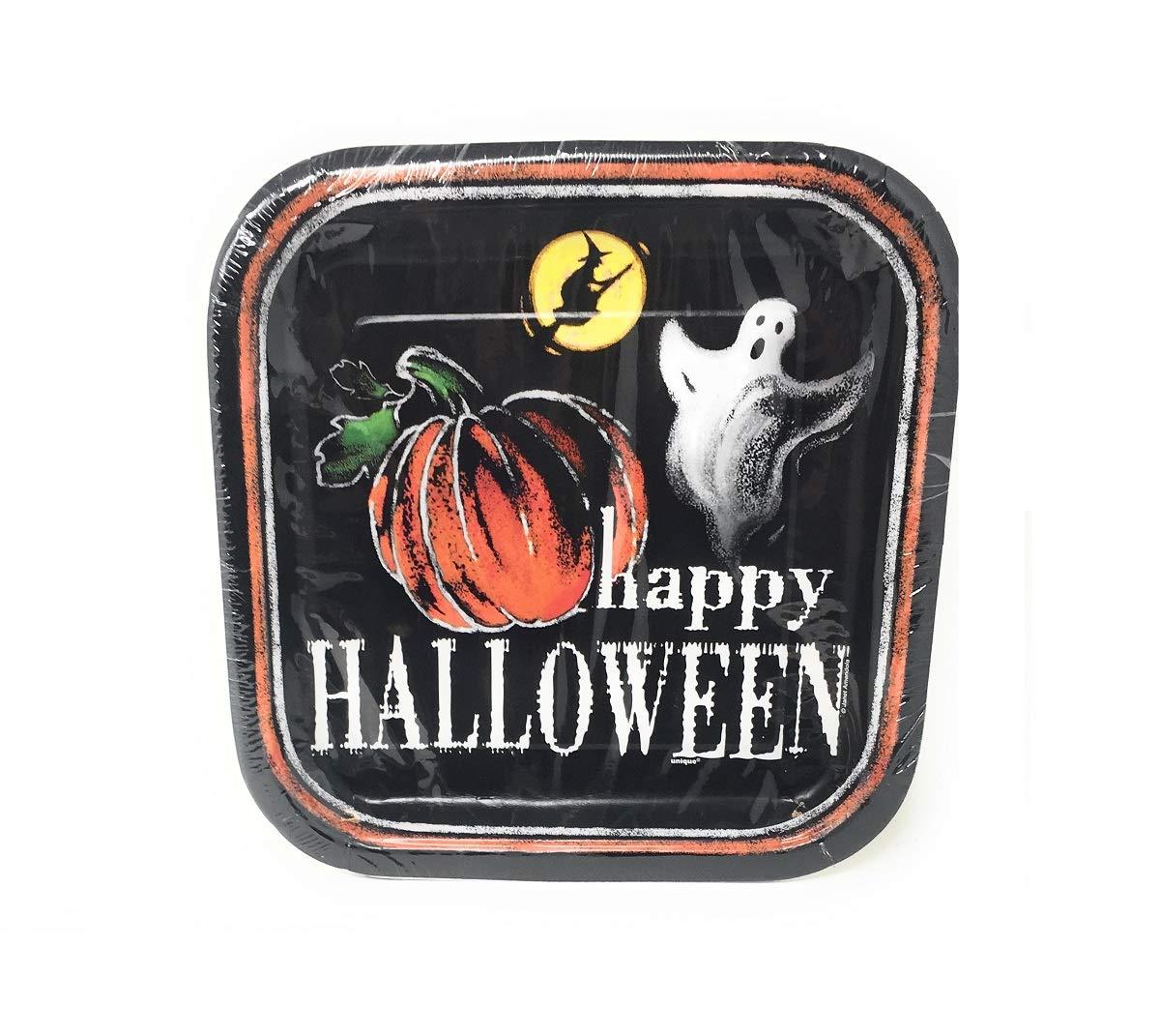 Halloween Party Supplies Value Pack of 32 Pumpkin Pals 7 Inch Round Halloween Plates LSR