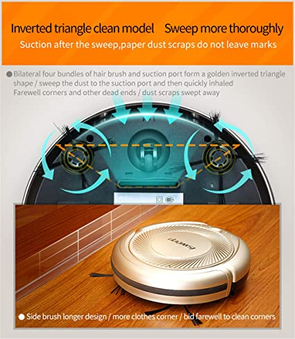 Lecc Robot de Barrido doméstico, 3 Modos Limpieza Aspirador ...