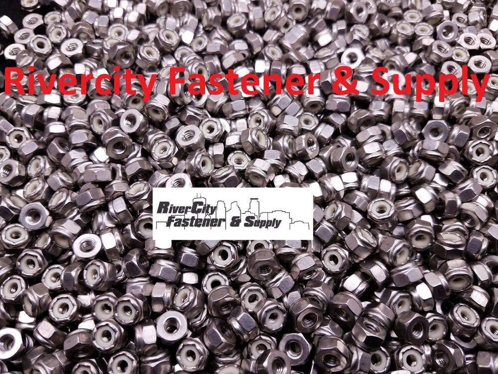 8-32 Nylon Insert Lock Nylocks 18-8 Stainless Steel #8 Stop 50 Nuts