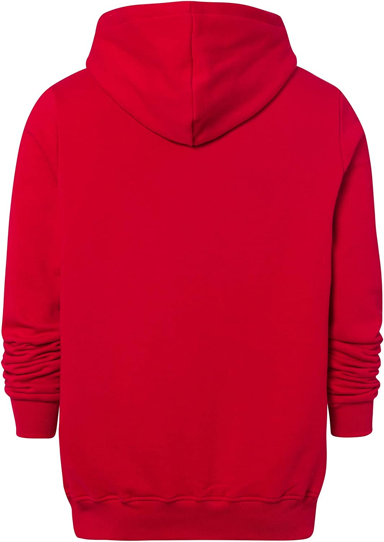 FC Bayern München Felpa con Cappuccio Logo Rosso Abbigliamento ...