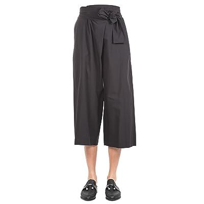 ALYSI Femme 108104P8047 Noir Coton Pantalon