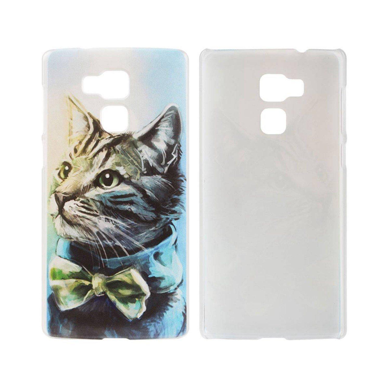 Guran® Plástico Hard Funda Cascara para Vernee Apollo Lite Smartphone Bumper PC Case Cover-Gato