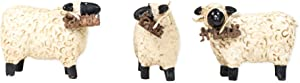 The Country House Collection Faith Family Friends Sheep 3 x 2 Resin Stone Figurines Set of 3