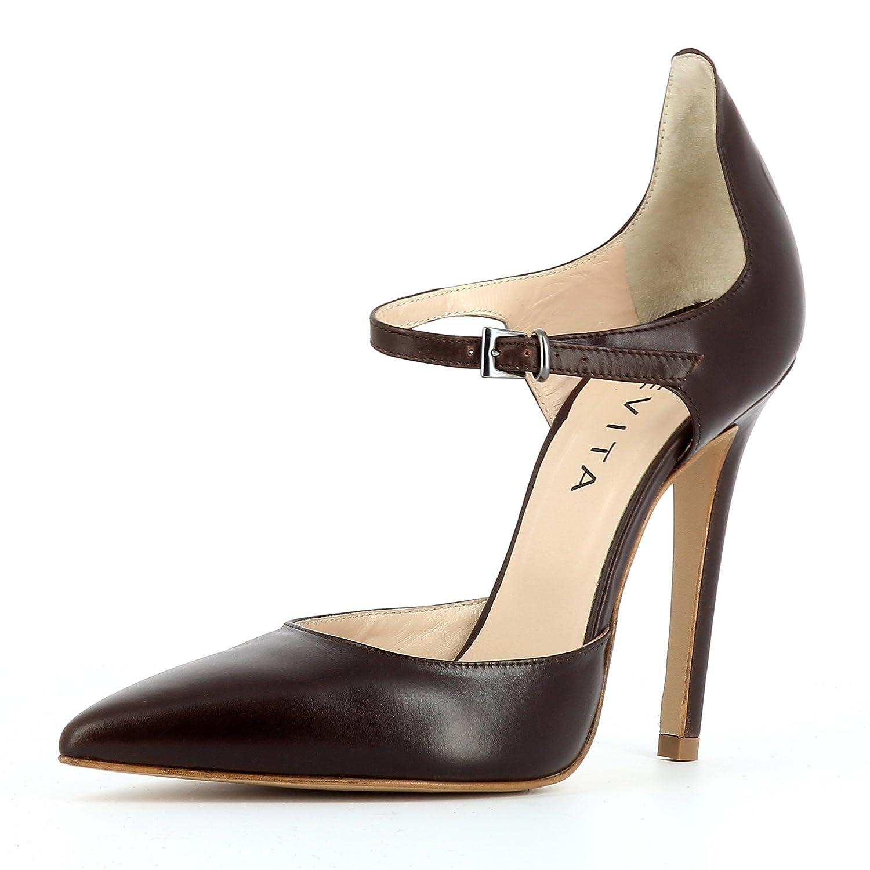 Evita Shoes lisa Mujer Pumps piel lisa 40|marrón oscuro