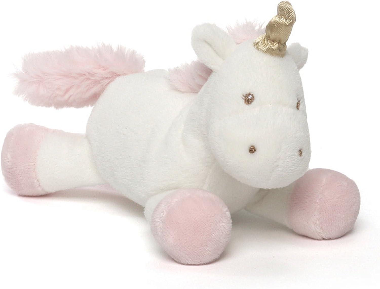 "Baby GUND Luna Unicorn Stuffed Animal Plush Rattle, 4"""