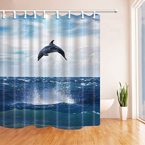KOTOM Retro Man Cave Shower Curtains For Bathroom Old Motorcycle Parked Beside The Red Brick