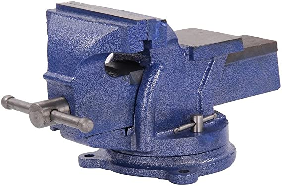 Heavy Duty Work Bench Vice Engineer Jaw Swivel Base Workshop Vise Clamp Alloy