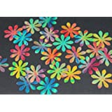 Multi-coloured Mini Flower x 24 pre-cut edible cake toppers (25mm)