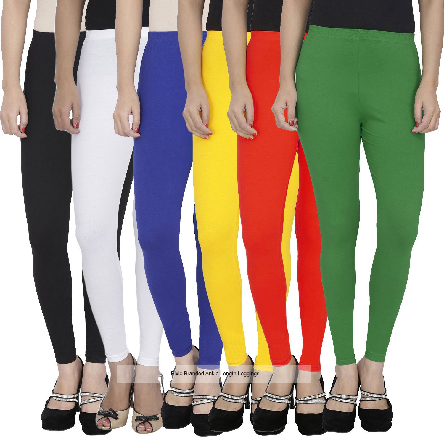 830e980fe585ca women's soft and 4 way stretchable ankle length leggings combo (pack of 6) -