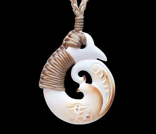 Amazon Com Maori Style Carved Bone Andrew Savage Koru Pendant From New Zealand Handmade