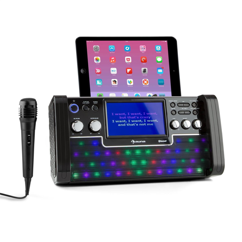Auna Disco Fever /• cha/îne karaok/é /• 1 Microphone Inclus /• possibilit/é de Brancher 2 Microphones /• Lecteur CD+G /• CD Karaok/é Inclus /• Effet /écho /• Fonction AVC /• Sortie vid/éo e