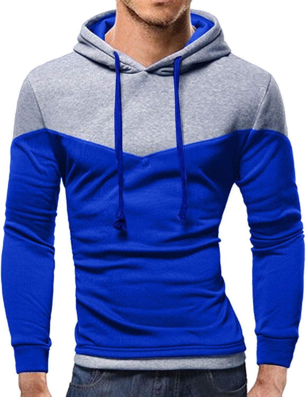 Big Hit Men Hoodies Long Sleeve Patchwork Sweatshirt