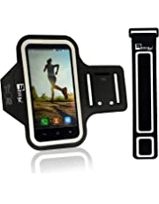 Premium iPhone 8 / iPhone 7 Armband with Fingerprint Home Button Access. Sports Phone Holder Case for Running & Exercise (Small - Large Arms)
