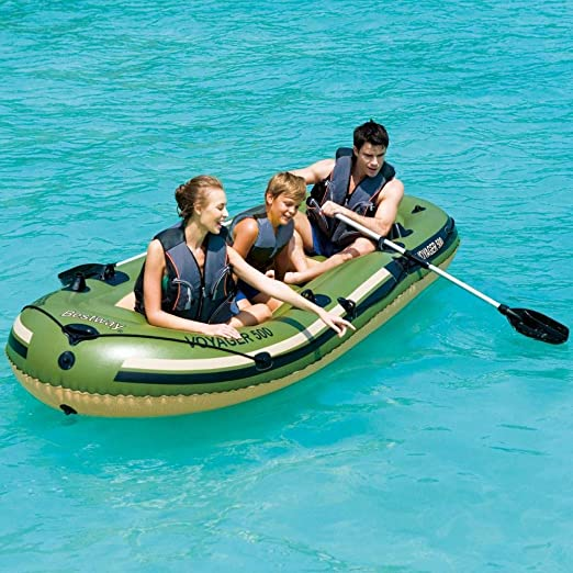 Bestway Voyager 500 - Barca Inflable con 2 remos