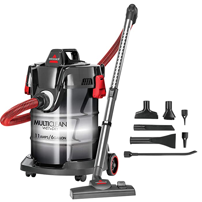Bissell MultiClean Wet/Dry Garage and Auto Vacuum Cleaner, Red, 2035M
