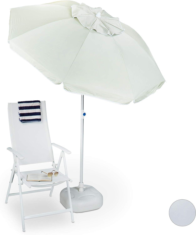 Apertura a ventaglio orientabile Poliestere Spiaggia Premium 180 x 180 cm Relaxdays Ombrellone Giardino Vari Colori