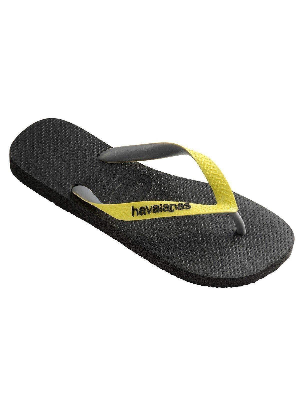 Havaianas Unisex Top Mix Rubber Flip-Flops Black-Neon Yellow Size EU 47/48 - Bra 45/46 - US M12