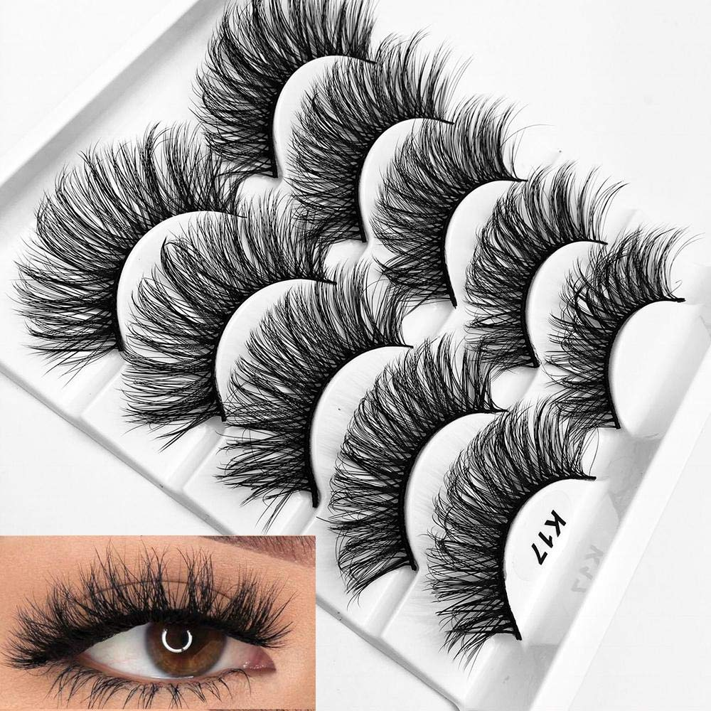 5db0f67f3c5 Mixed 3D Mink Hair False Eyelashes Full Strips Thick Cross Long Lashes Wispy  Fluffy Eye Makeup