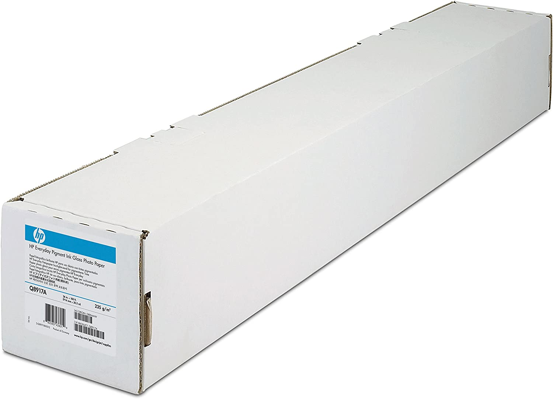 "HP C6029C Designjet Inkjet Large Format Paper, 6.6 mil, 24"" x 100 ft, White"