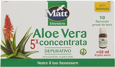 Matt Integratore Alimentare Di Aloe Vera 100 Ml Amazon It Salute E Cura Della Persona