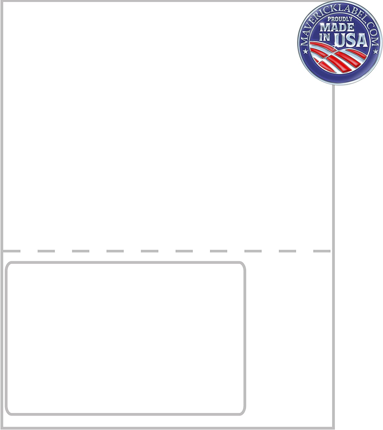 Integrated Label Sheets Custom Labels Label Sheets can be Used as Personalized Labels Mailing Labels FC-0017 Shipping Labels 1 up Labels 6x4 Full Perforated Sheet Packing Slip