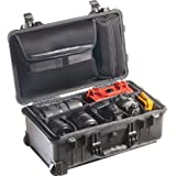 Pelican 1510 Laptop Overnight Case With Padded Dividers (Black)