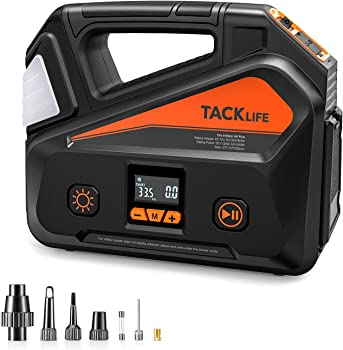 Tacklife A6 Plus Portable Air Compressor with LCD Pressure Gauge