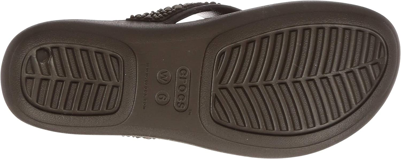 Crocs Monterey Diamante Wedge Flip, Infradito Donna Marrone Espresso Bronze 25m