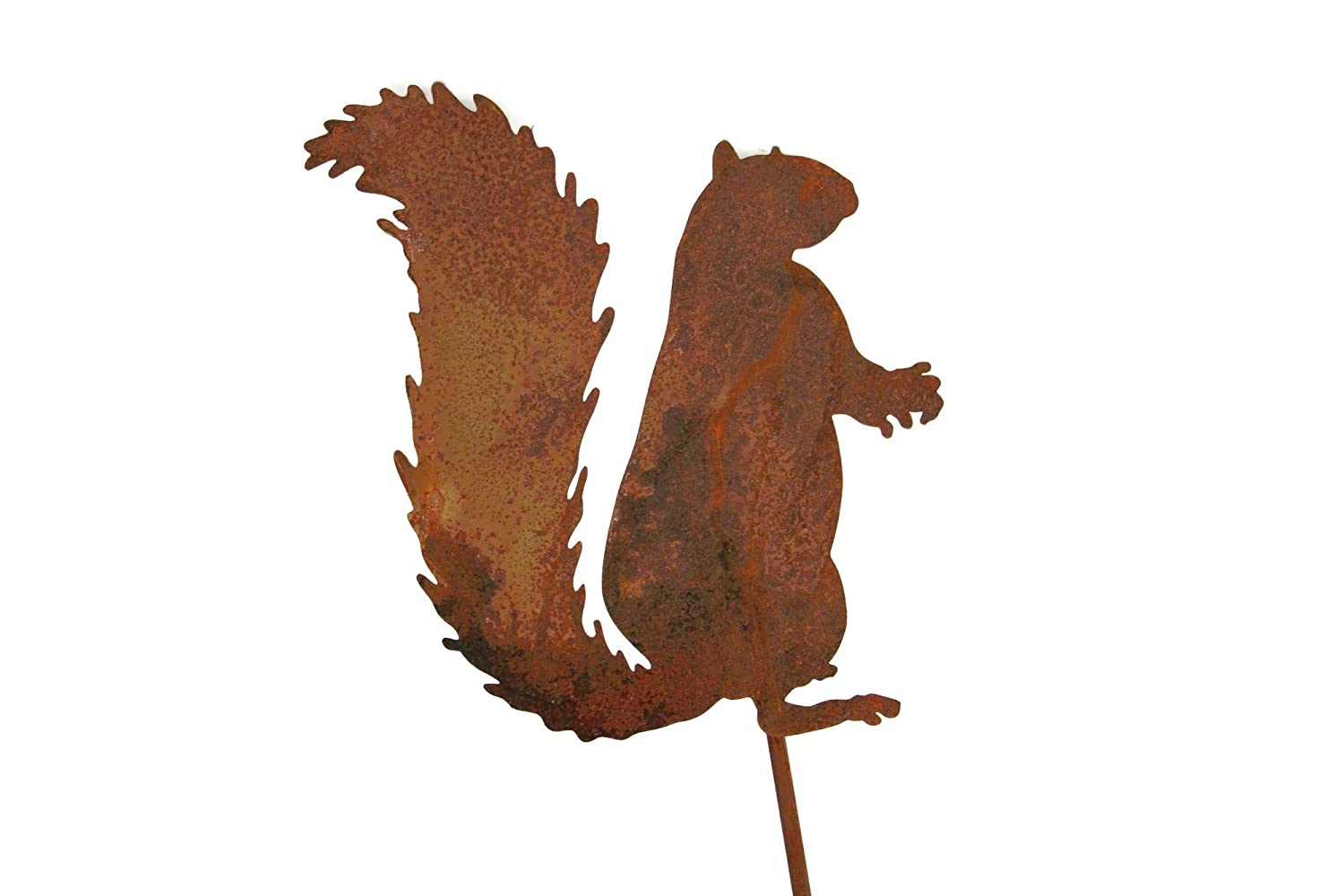 Metal Squirrel Garden Stake Small Size