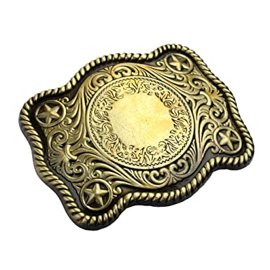 Sharplace Boucle de Ceinture Buckle Belt Style American Western Cowboy  Accessoires Déco de Vêtement Embellissement Cadeau 06f64b4640e