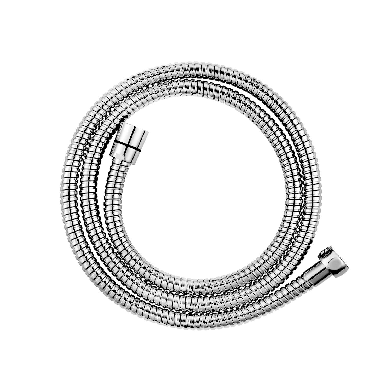 CLOFY tubo doccia di alta qualità 1,5 m lunghi in acciaio inox doppia Metaflex Lock 1/2, 10 anni di garanzia di soddisfazione cromato