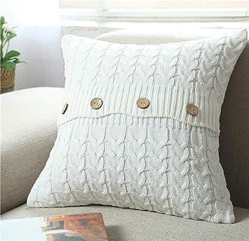 Amazon.com: MisDress - Funda de almohada para tejer con ...
