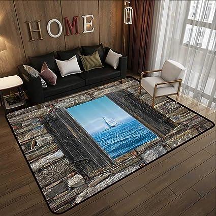 Amazon.com: Super Cozy Bathroom Rug Carpet,House Decor ... on mexican tile design rug, kitchen tile rug, ceramic tile rug, faucet design rug,