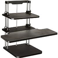 Pyle Sit Stand Desk, Height Adjustable Stand Up Desk, Computer/ Laptop Stand Up Computer Workstation W/2 Adjustable…