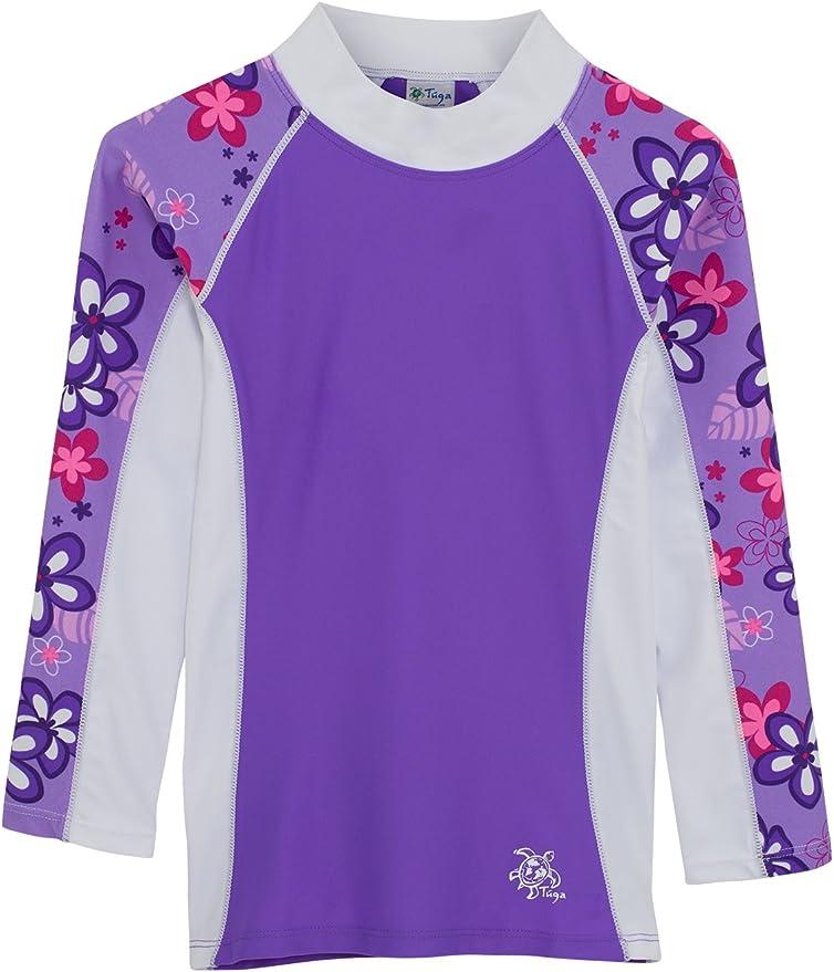 Tuga Manga Larga UV Natación Camisa Costa 2 – 14 años UPF50 + Protección Solar (Violeta), 6-7 años: Amazon.es: Deportes y aire libre